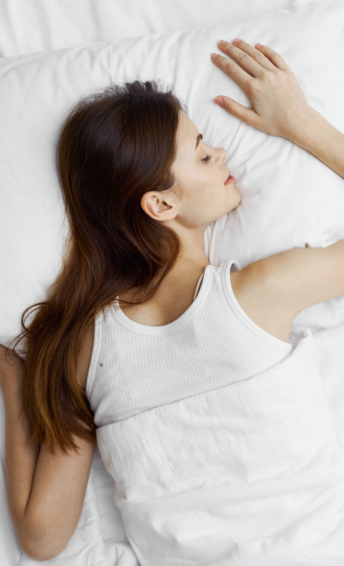 woman laying on stomach