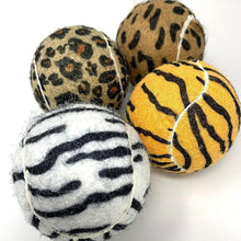 Load image into Gallery viewer, Animal Print Small Tennis Ball 4pk