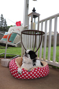 Small Round Heart Pet Bed