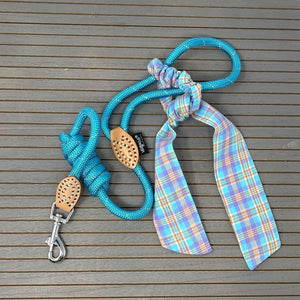 Reflective rope leash and scrunchy