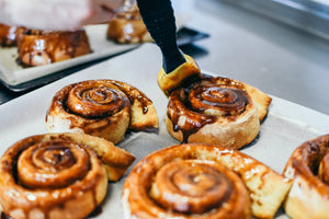 Maple & Coffee Glazed Cinnamon Roll