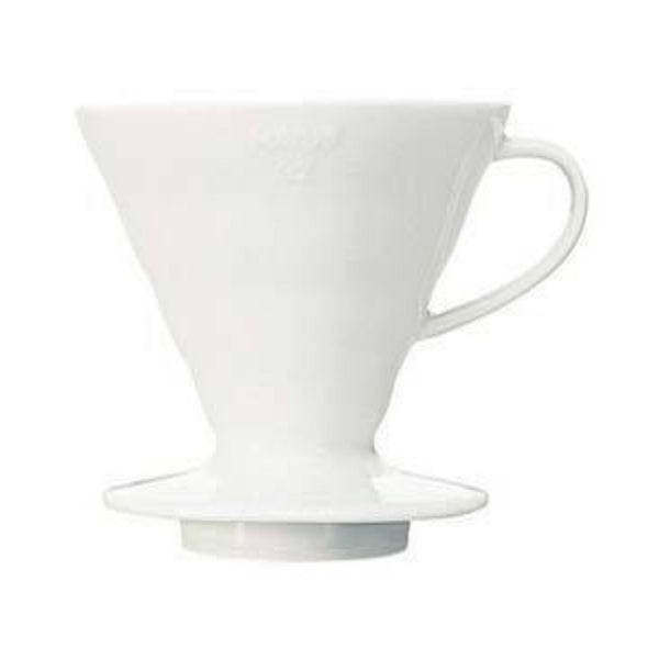 The Hario V60 coffee maker is a new twist on the classic cones. Using appropriate hario filters, this is perfect for brewing single cups of Hario pour over coffee into one mug. Order the Hario V60-02 Ceramic coffee dripper from the best Canadian coffee roasters.