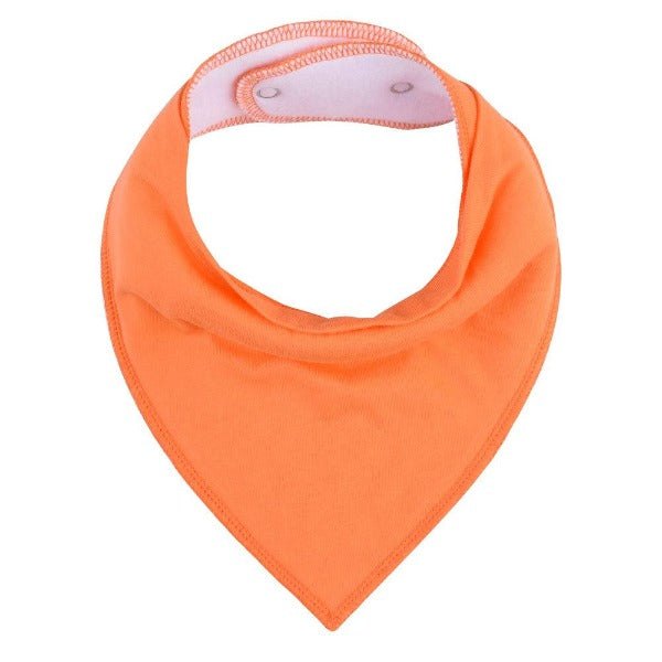 baby bandana bib bright orange