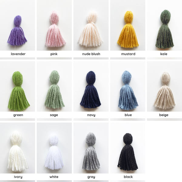 colour options for tassles of nursery wall hanging