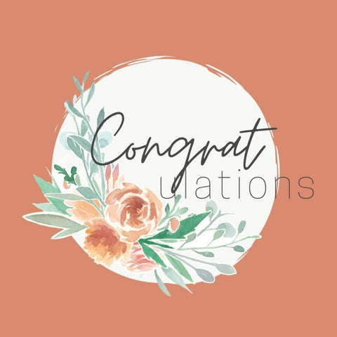 Congrulations! Gift Card with flower motif