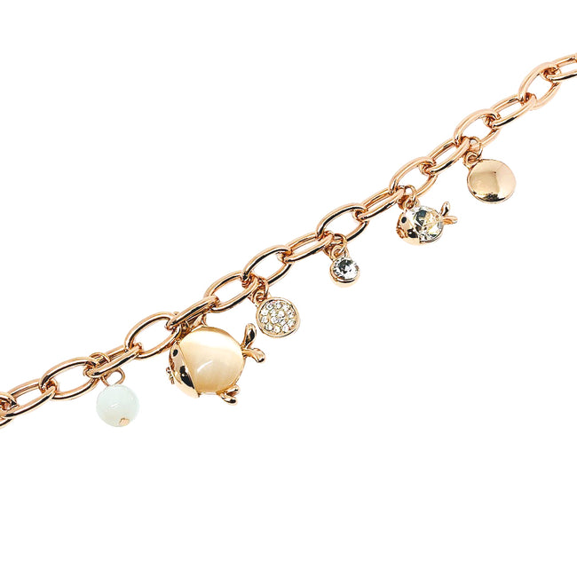 Fish Simulated Moonstone Bracelet