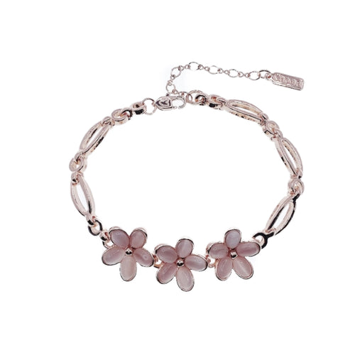 Flower Simulated Moonstone Bracelet