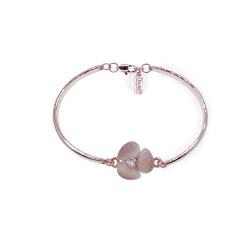 Flower Simulated Moonstone Bangle