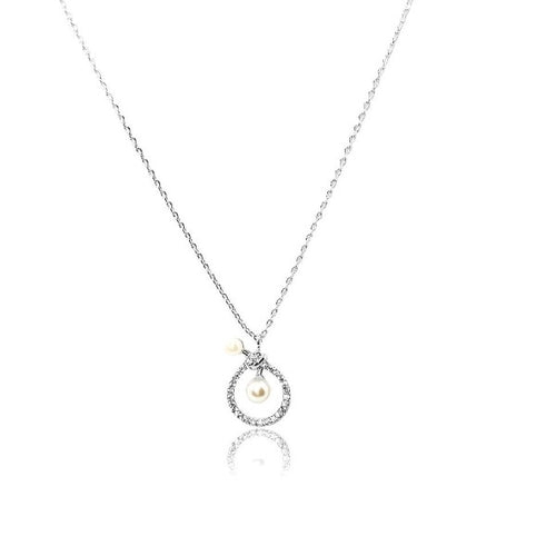 Pearl Pendant Necklace - CHOMEL