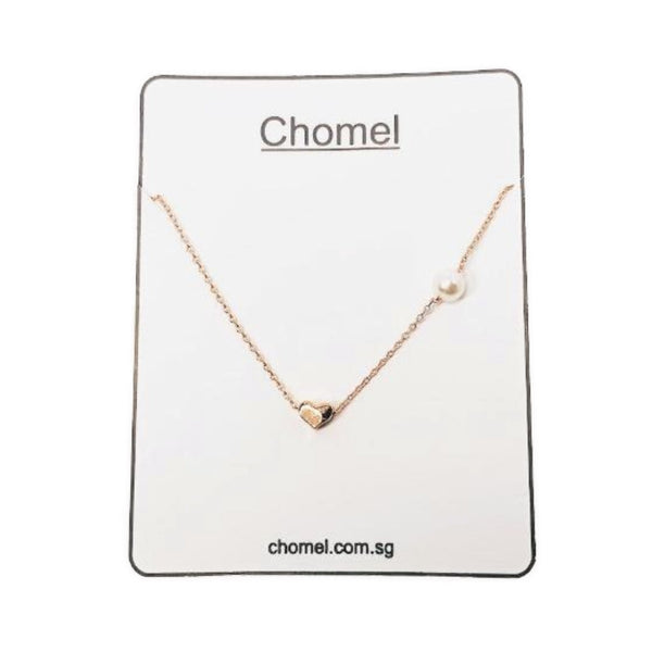 Heart Pearl Necklace - CHOMEL