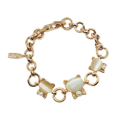 Cat Simulated Moonstone Bracelet