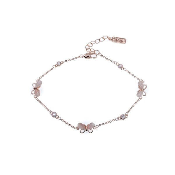 Simulated Moonstone Butterfly Bracelet - CHOMEL