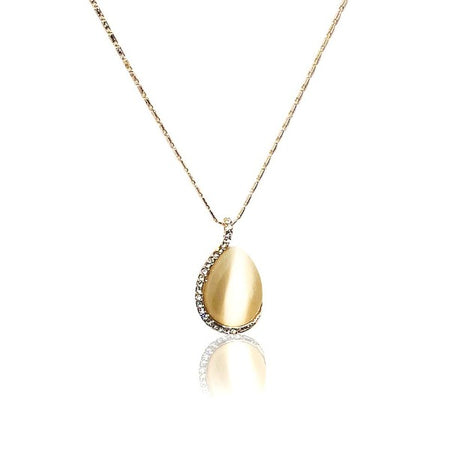 Teardrop Simulated Moonstone Necklace