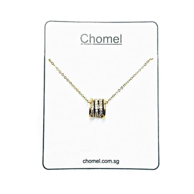 Tunnel Cubic Zirconia Necklace