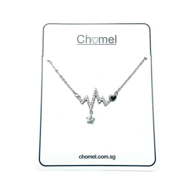 Heartbeat Cubic Zirconia Necklace - CHOMEL