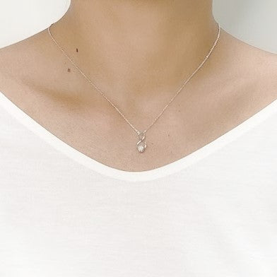 Infinity Cubic Zirconia Necklace - CHOMEL