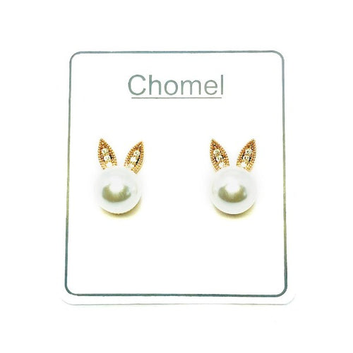 Rabbit Ears Pearl Earrings