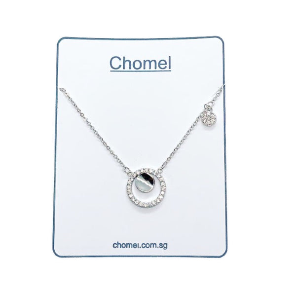 Round Cubic Zirconia Necklace - CHOMEL