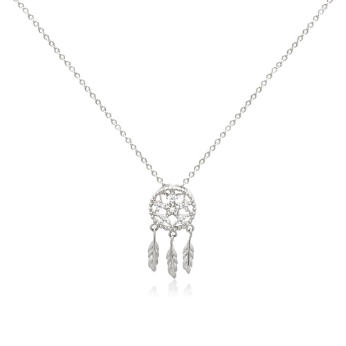 Dream Catcher Cubic Zirconia Necklace