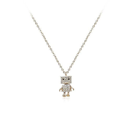 Robot Cubic Zirconia Necklace - CHOMEL