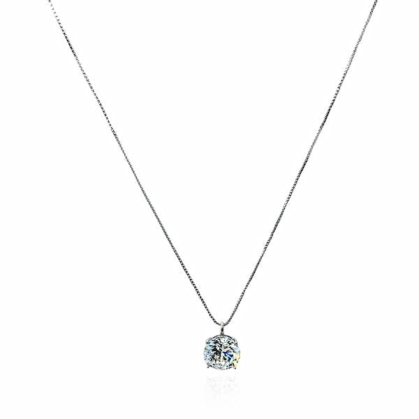 Solitaire Cubic Zirconia Necklace