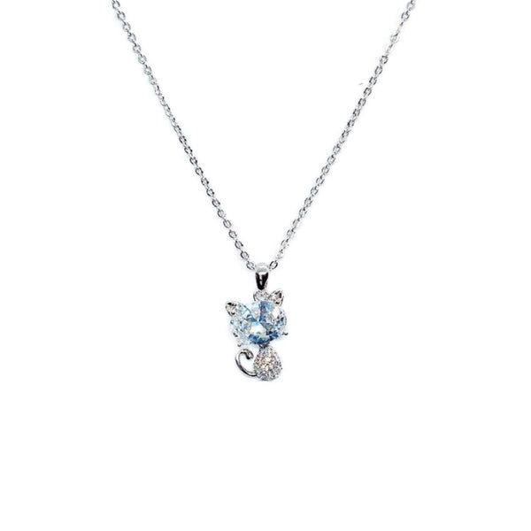 Cat Cubic Zirconia Necklace