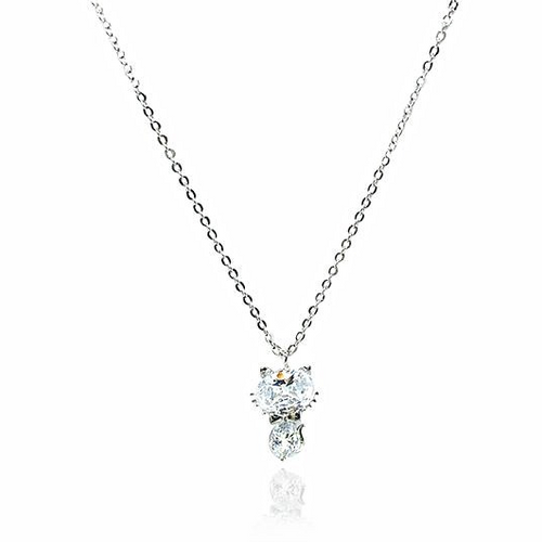 Cat Cubic Zirconia Necklace - CHOMEL