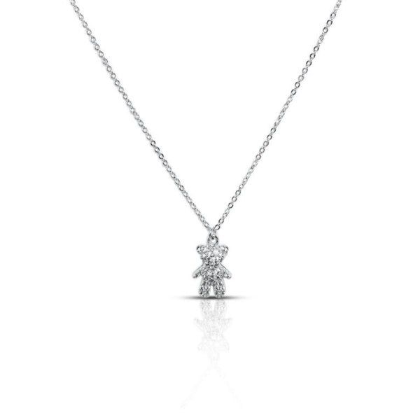 Teddy Bear Cubic Zirconia Necklace
