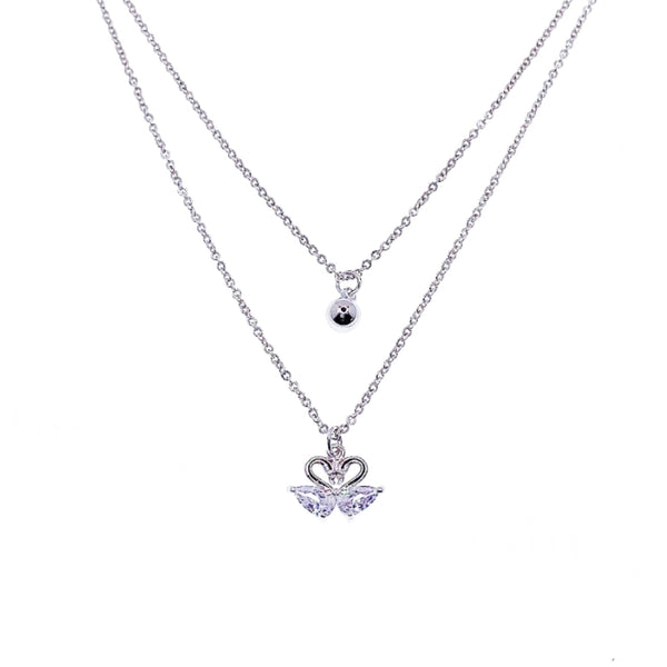 Love Swan Cubic Zirconia Necklace - CHOMEL