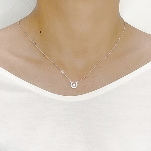 Horseshoe Cubic Zirconia  Necklace - CHOMEL