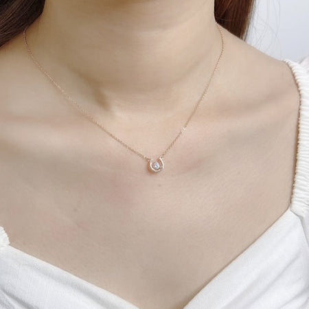 Heart Simulated Moonstone Necklace