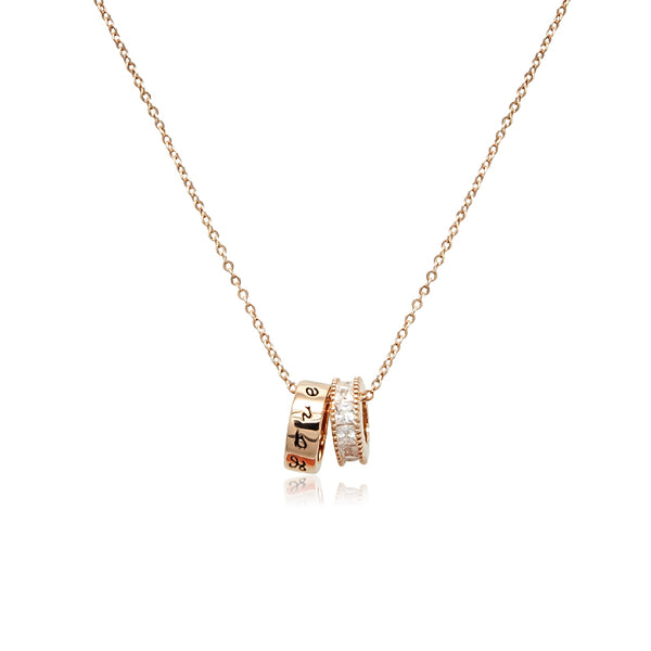 2 Ring Cubic Zirconia Necklace