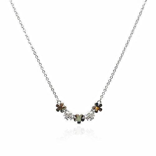 Flower Cubic Zirconia Necklace