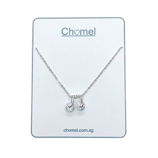 Music Note Cubic Zirconia Necklace - CHOMEL