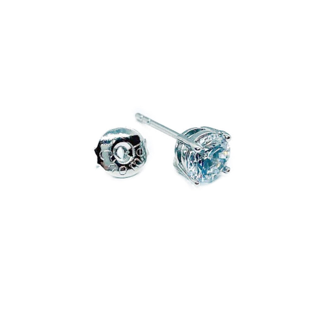 6mm Cubic Zirconia Solitaire Earrings