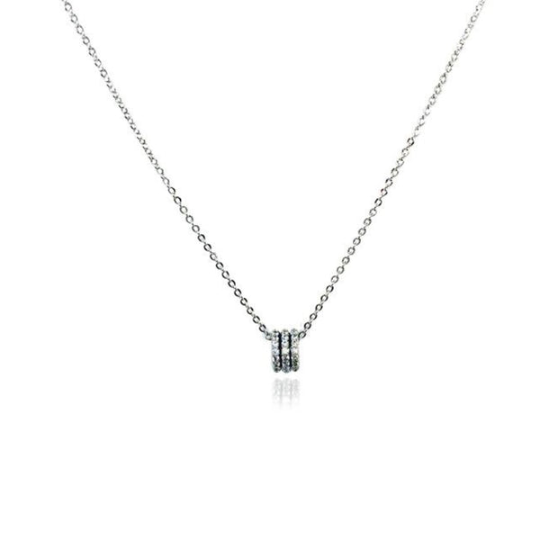Cubic Zirconia Tunnel Necklace