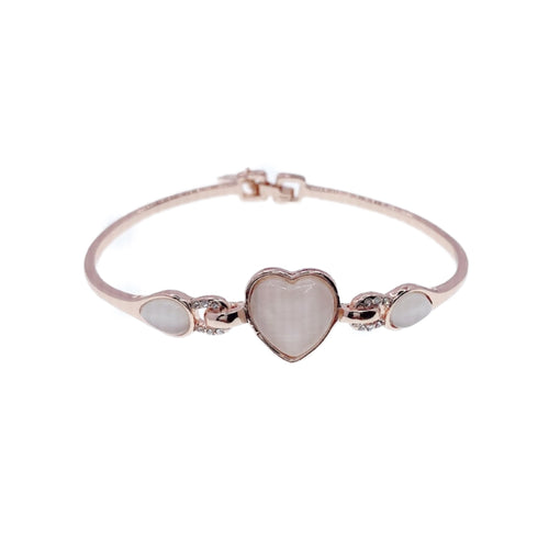 Heart Simulated Moonstone Bangle
