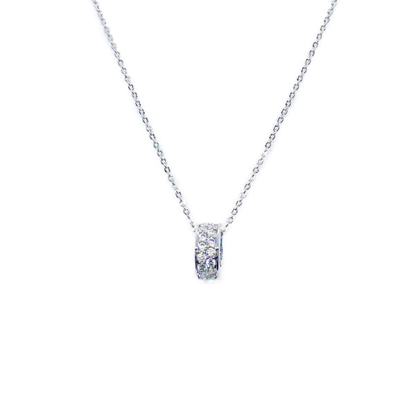 Tunnel Cubic Zirconia Necklace - CHOMEL