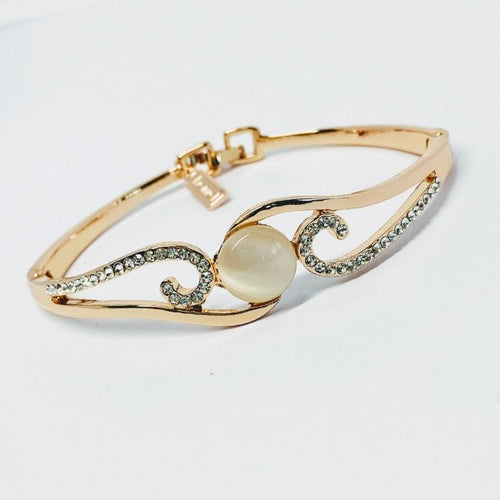 Simulated Moonstone Bangle - CHOMEL