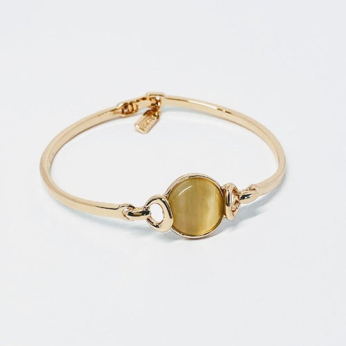 Round Simulated Moonstone Bangle