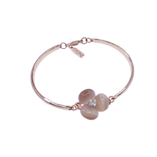 Flower Simulated Moonstone Bangle - CHOMEL