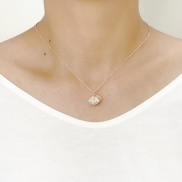 Shell Cubic Zirconia Necklace - CHOMEL