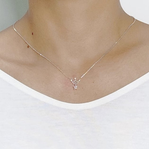 Crown Cubic Zirconia Necklace - CHOMEL