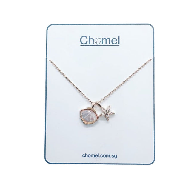 Shell & Starfish Mother of Pearl Necklace - CHOMEL