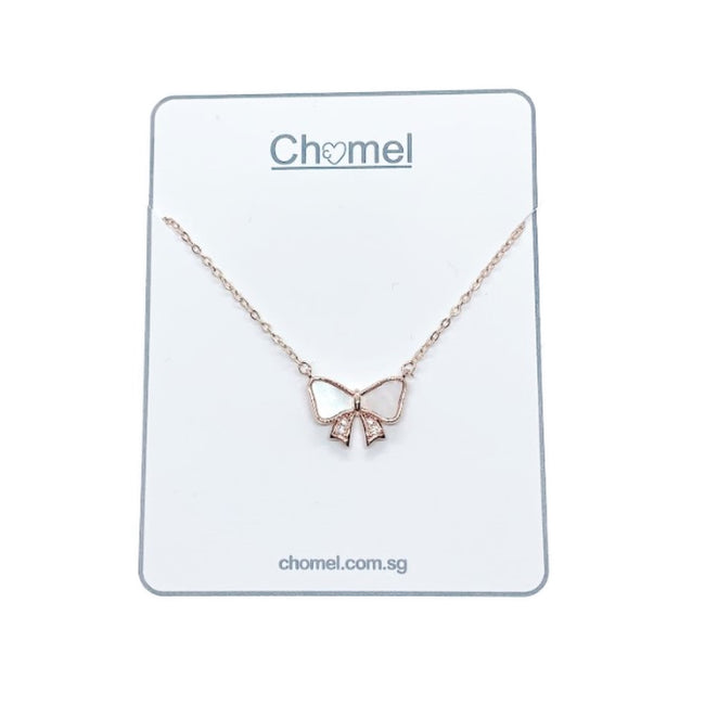 Ribbon Mother of Pearl Necklace - CHOMEL