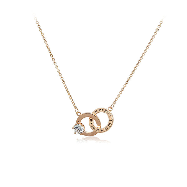 Round Interlocking Cubic Zirconia Necklace