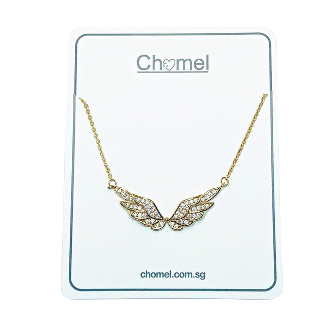 Angel Wings Cubic Zirconia Necklace - CHOMEL