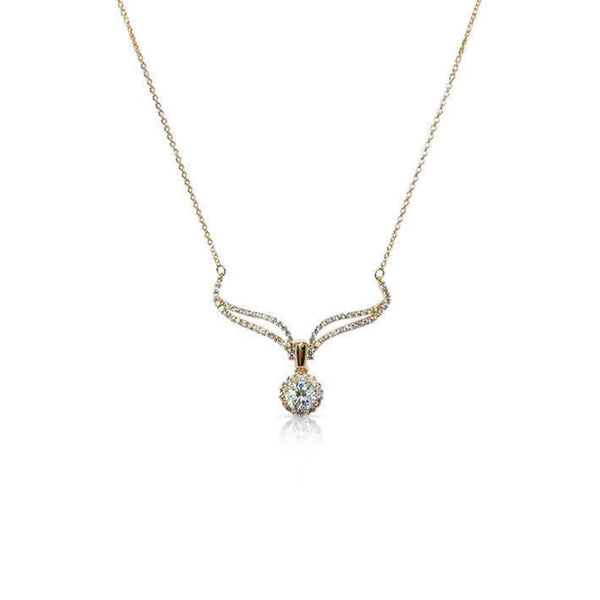 Wings Cubic Zirconia Necklace - CHOMEL