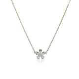 Cubic Zirconia Flower Pendant Necklace