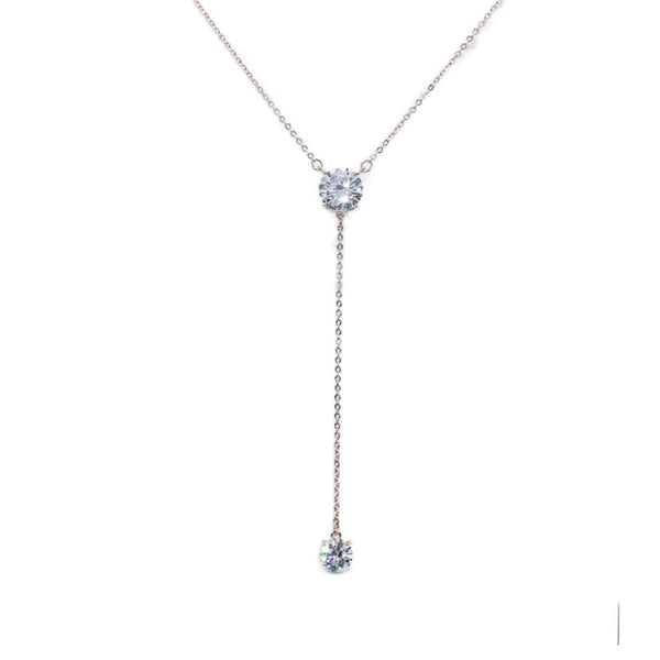 Solitaire Cubic Zirconia Necklace - CHOMEL